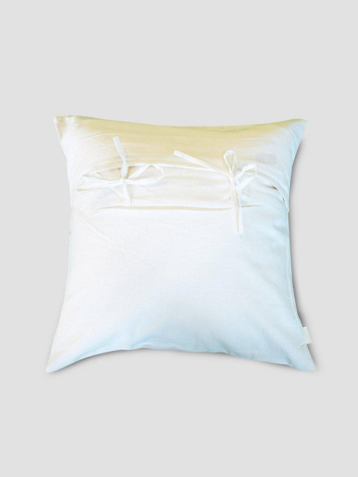 Dome Cushion Cover - Yellow Dome With Blue Border - Thevasa