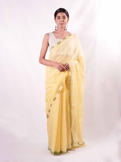 EOS Chanderi - Yellow - Thevasa