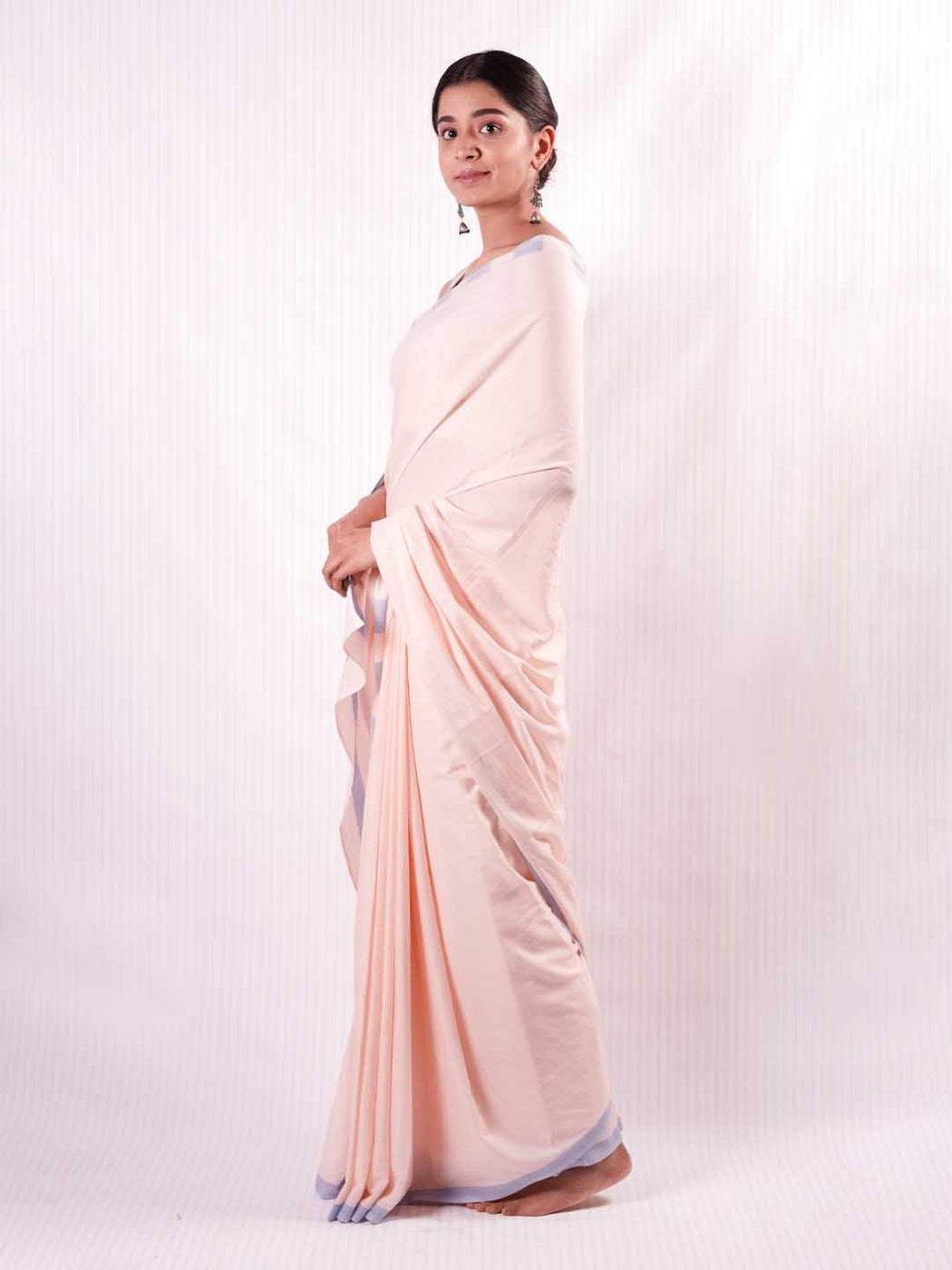 Pink & Blue Cotton Saree 2
