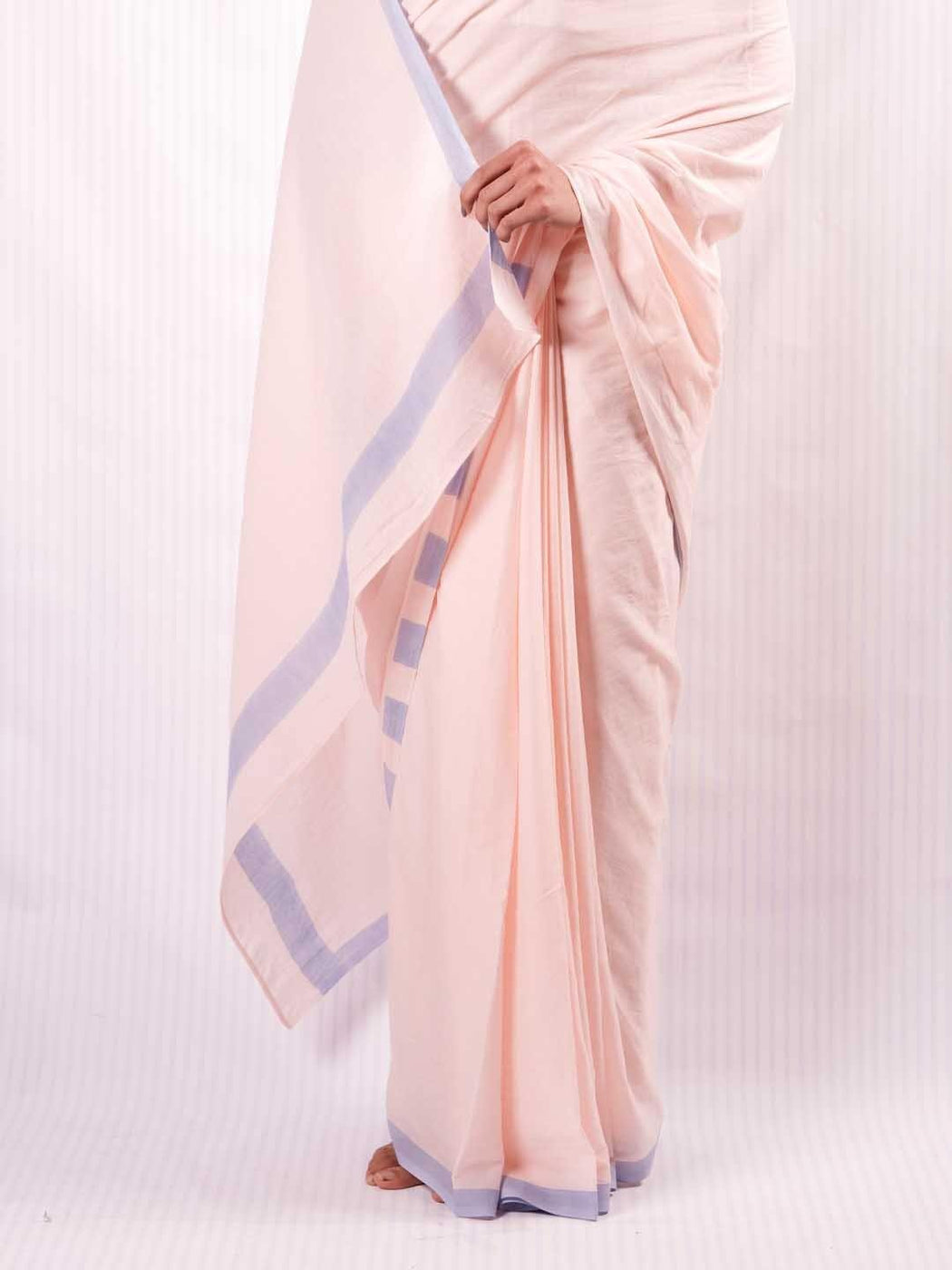 Pink & Blue Cotton Saree 4