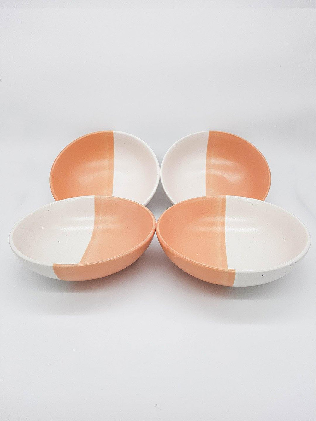 Kypelo Bowl Rustic Orange - Set of 4 - Thevasa