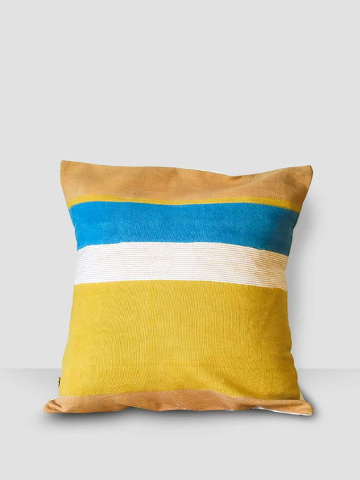 Aegean Hues Cushion Cover - Stripes Multicolor - Thevasa