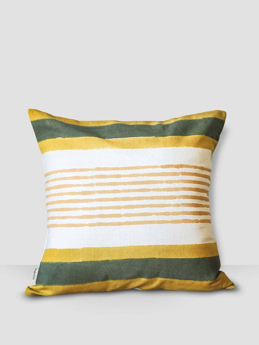 Ahoy Sailor Cushion Cover - Yellow & Green Stripes - Thevasa