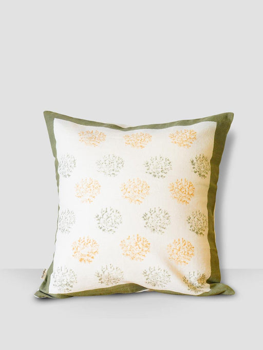 Ahoy Sailor Cushion Cover - Coral With Green border - Thevasa