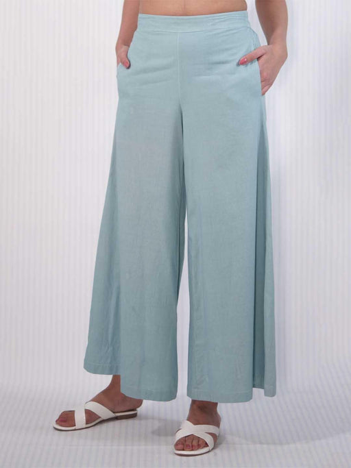 Carolina Blue Women Broad Pants 1
