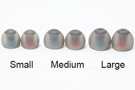 Silicone Tips for Zen Universal Fit IEMs - 3 Pair Pack - Earasers.Shop