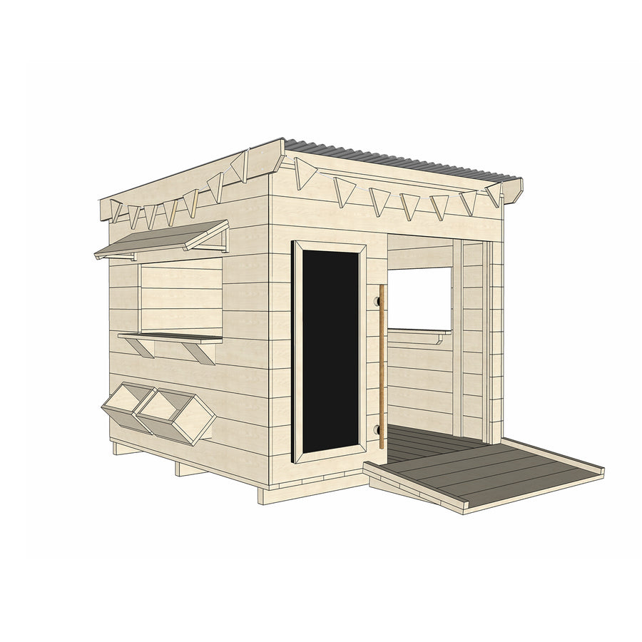 Castle and Cubby Timber Cubby House Wheelchair Accessible Accessories