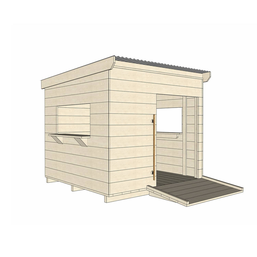 Castle and Cubby Timber Cubby House Wheelchair Accessible
