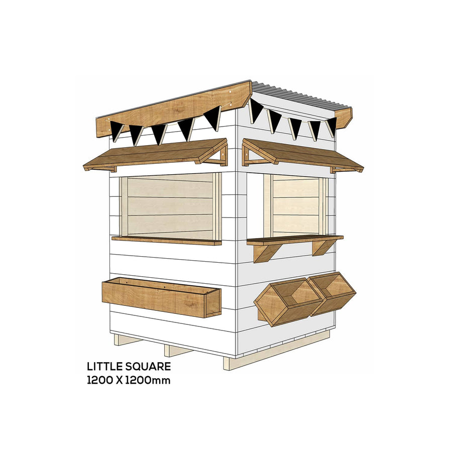Castle and Cubby Painted Pine Timber Cafe Themed Cubby House Commercial Education
