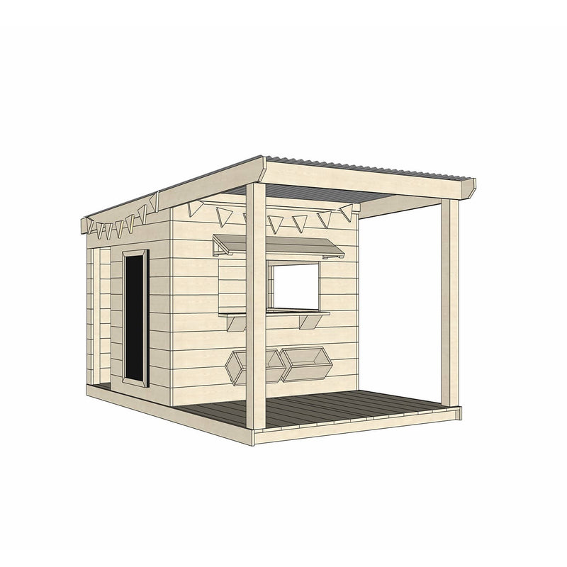 Castle and Cubby Timber Cubby House Verandah Decking Accessories