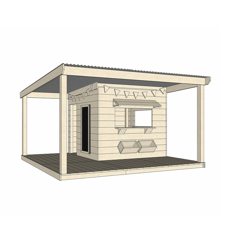 Castle Cubby Timber Cubby House Verandah Decking Accessories