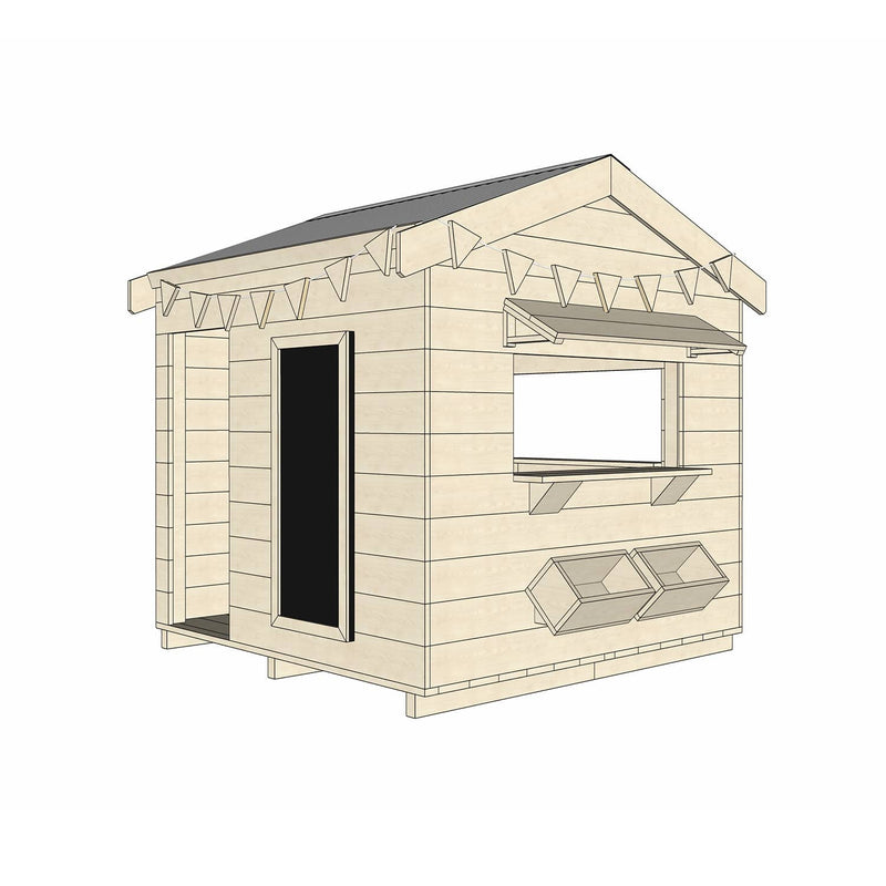 Castle Cubby Timber Cubby House Pitched Roof Accessories Commercial Education