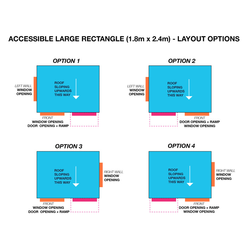 Accessible Large Rectangle 1800 x 2400mm