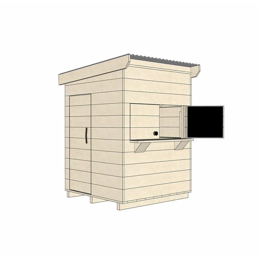 Castle Cubby Timber Cubby House Castle Cubby Raw Timber Flat Roof Cubby House