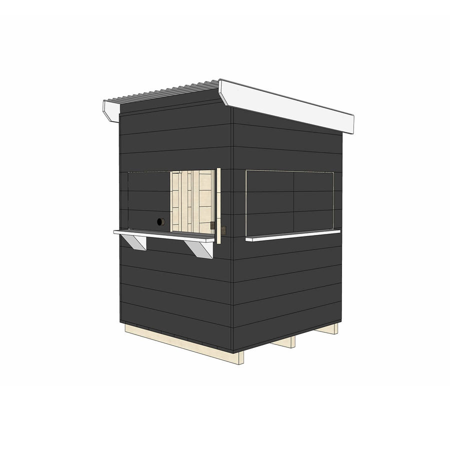 Castle Cubby Painted Timber Flat Roof Cubby House