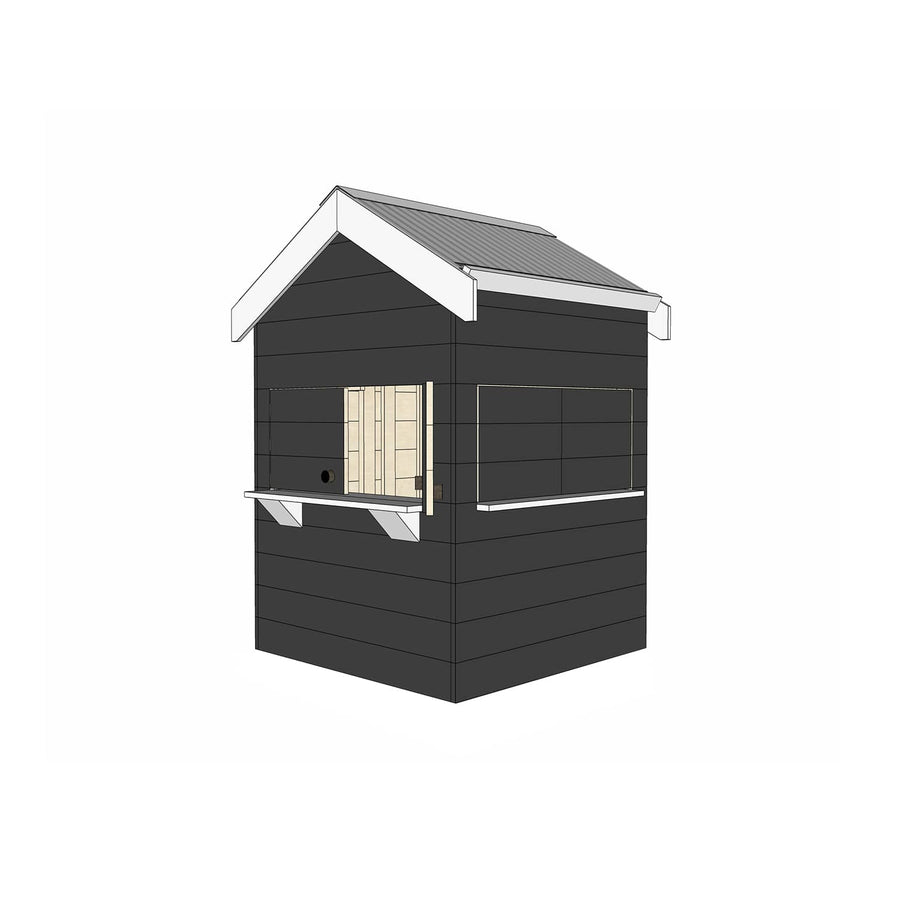 Castle Cubby Timber Cubby House AccessoriesCastle Cubby Timber Cubby House Castle Cubby Painted Timber Pitched Roof Cubby House