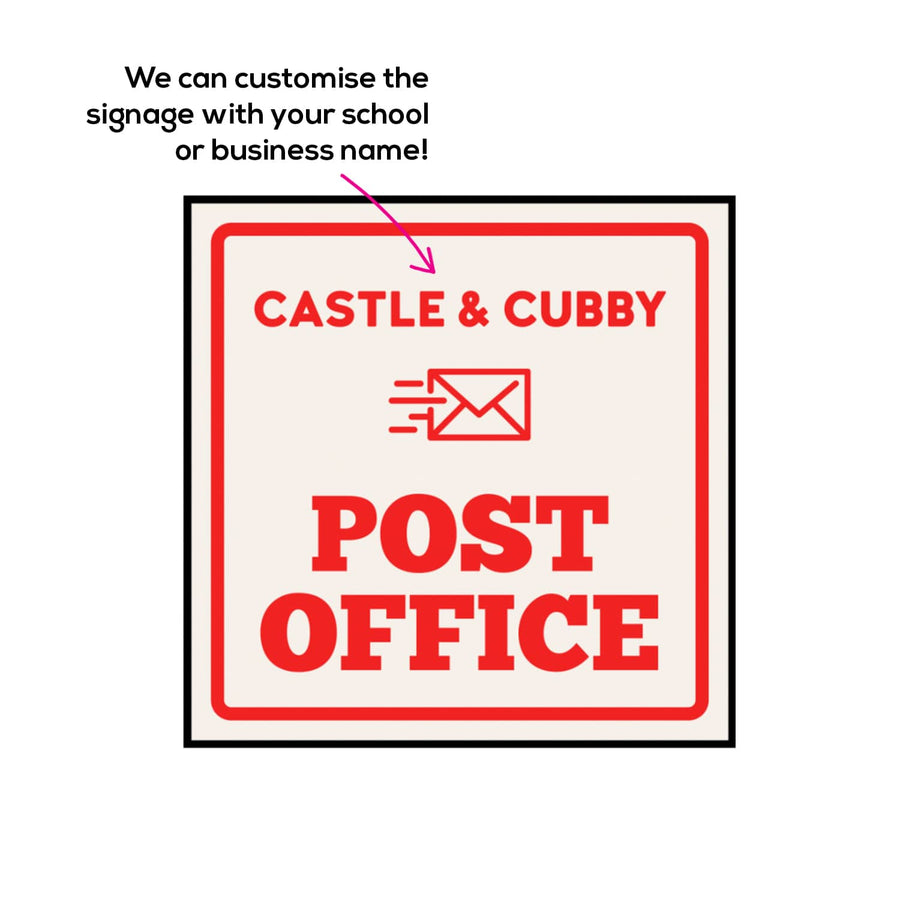 Post Office Cubby House - Midi Square 1800 x 1800mm (No Floor) - Commercial Grade