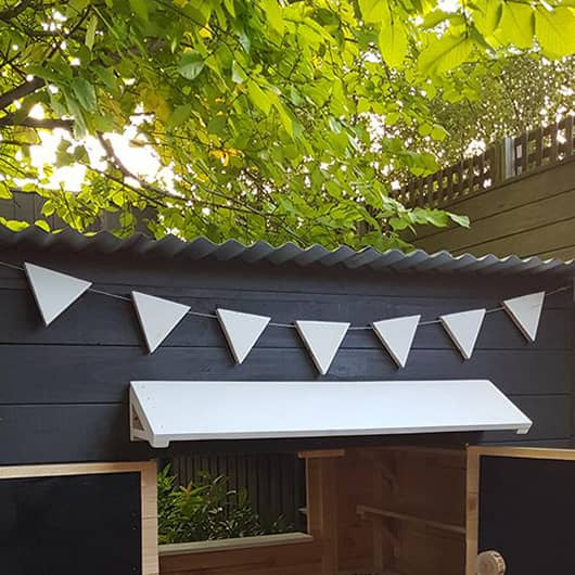 Wooden Bunting (suits Large Rectangle) - Painted