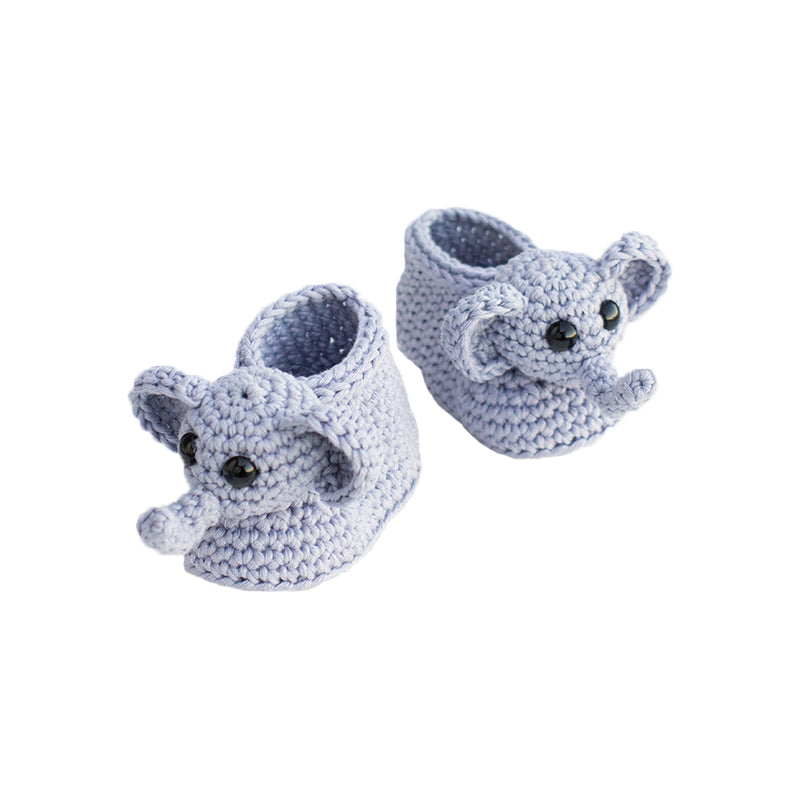 Baby Elephant Crochet Shoes