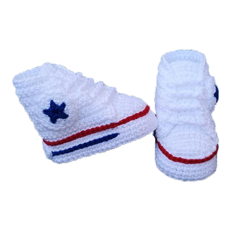 Converse Crochet Baby Shoes