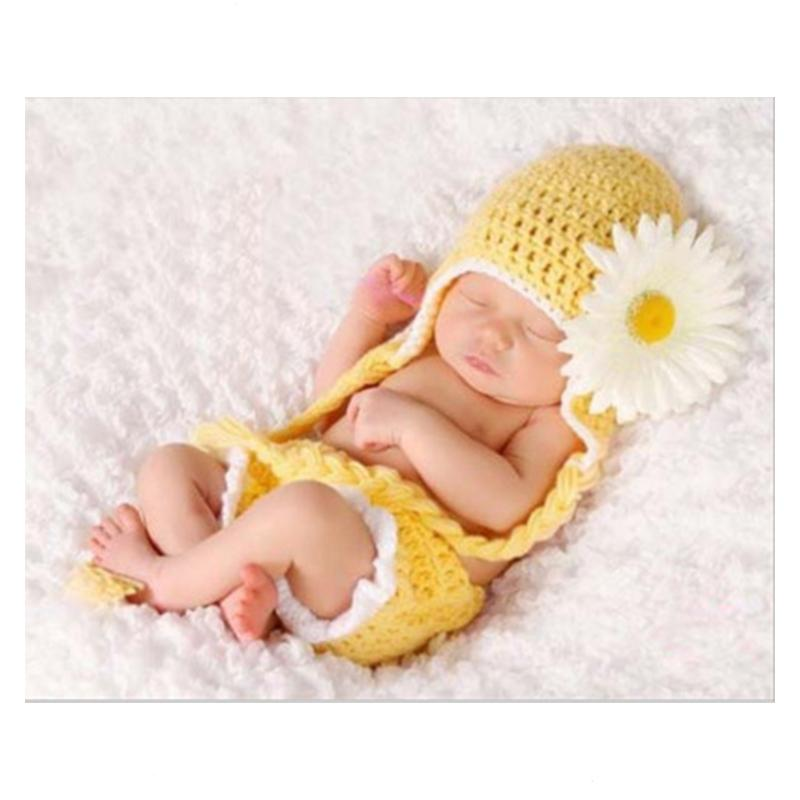 baby girl sunflower crochet outfit