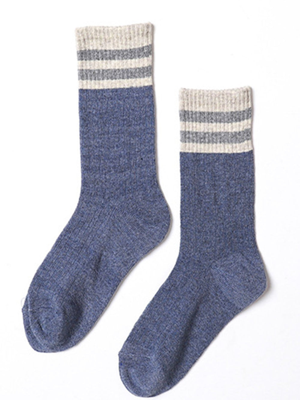 Vintage Casual Stripes Breathable Warm Cotton Socks