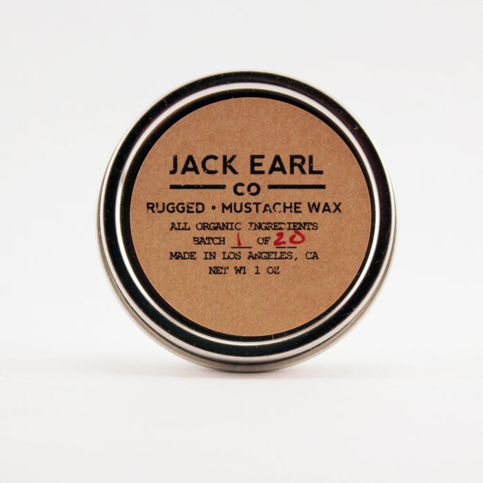 Rugged Mustache Wax 1 oz. - Jack Earl Company