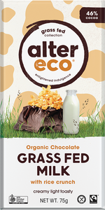 Alter Eco Organic Chocolate - Grass Fed Milk With Rice Crunch