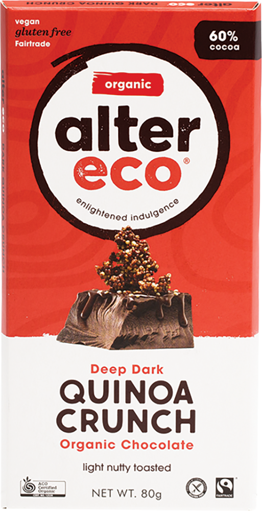 Alter Eco Organic Chocolate - Dark Quinoa Crunch