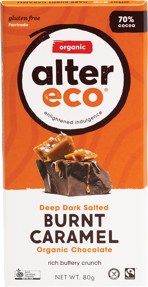 Alter Eco Organic Chocolate - Dark Salted Burnt Caramel