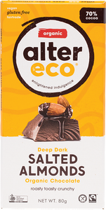 Alter Eco Organic Chocolate - Dark Salted Almonds
