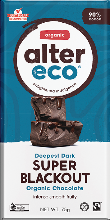 Alter Eco Organic Chocolate - Dark Super Blackout