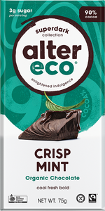 Alter Eco Organic Chocolate - Dark Crispy Mint