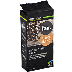 fair. Africa Blend Organic Ground Coffee