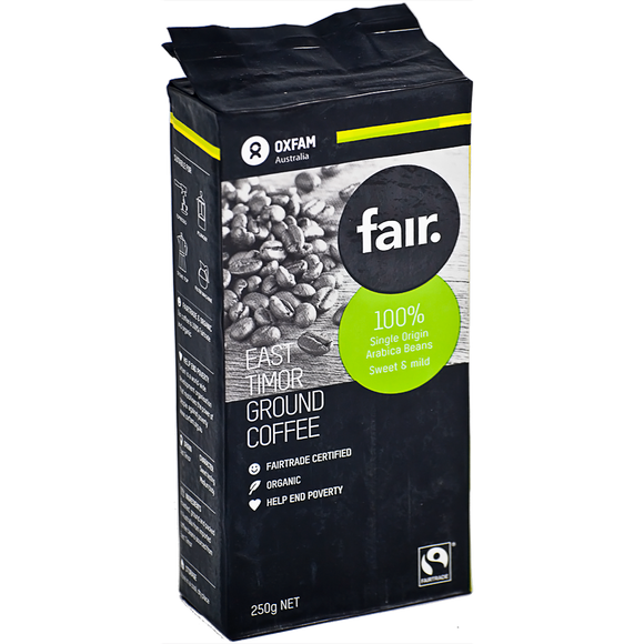 fair. East Timor Organic Ground Coffee