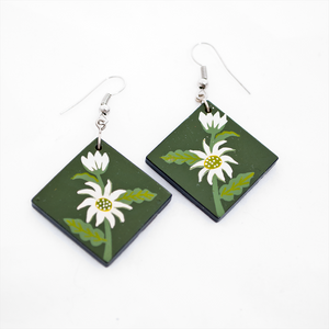 Ceramic Earrings - Flannel Flower