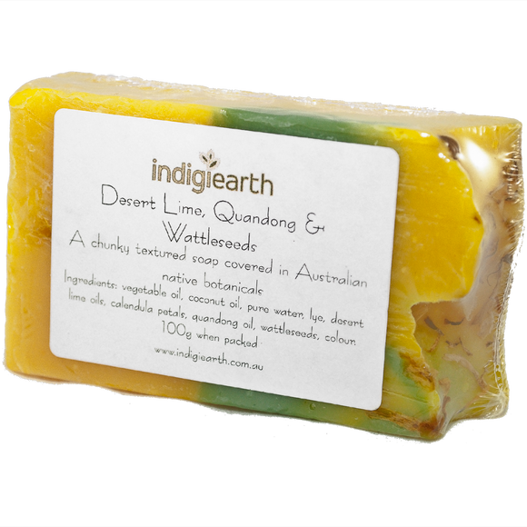 Indigiearth Desert Lime, Quandong, & Wattleseed Soap