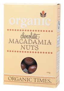 Organic Times Milk Chocolate Covered Macadamia Nuts