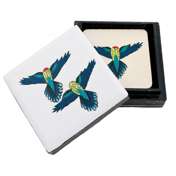 Set/6 Coasters - Rosellas