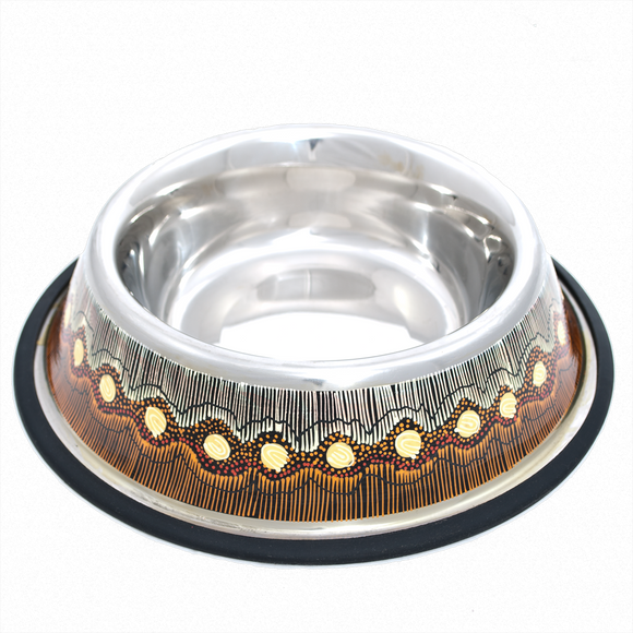Stainless Steel Pet Bowl - Sandhills Design