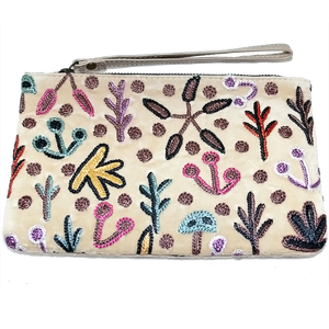 Velvet Clutch Bag W/Wrist Strap - Our Country Design