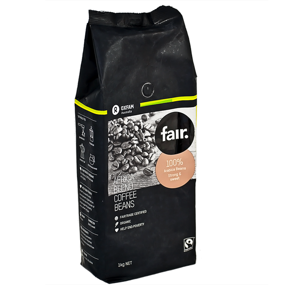 fair. Africa Blend Organic Coffee Beans