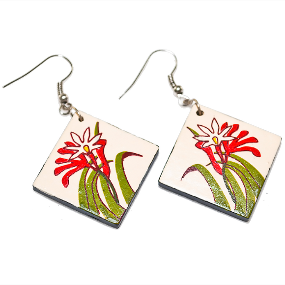 Ceramic Earrings - Kangaroo Paw
