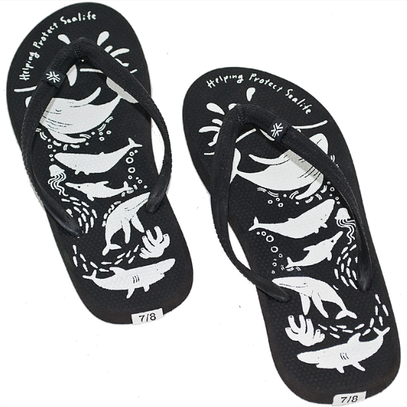 Natural Rubber Thongs Sea Shepherd