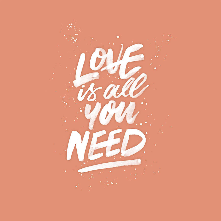 LOVE IS ALL YOU NEED - Pink