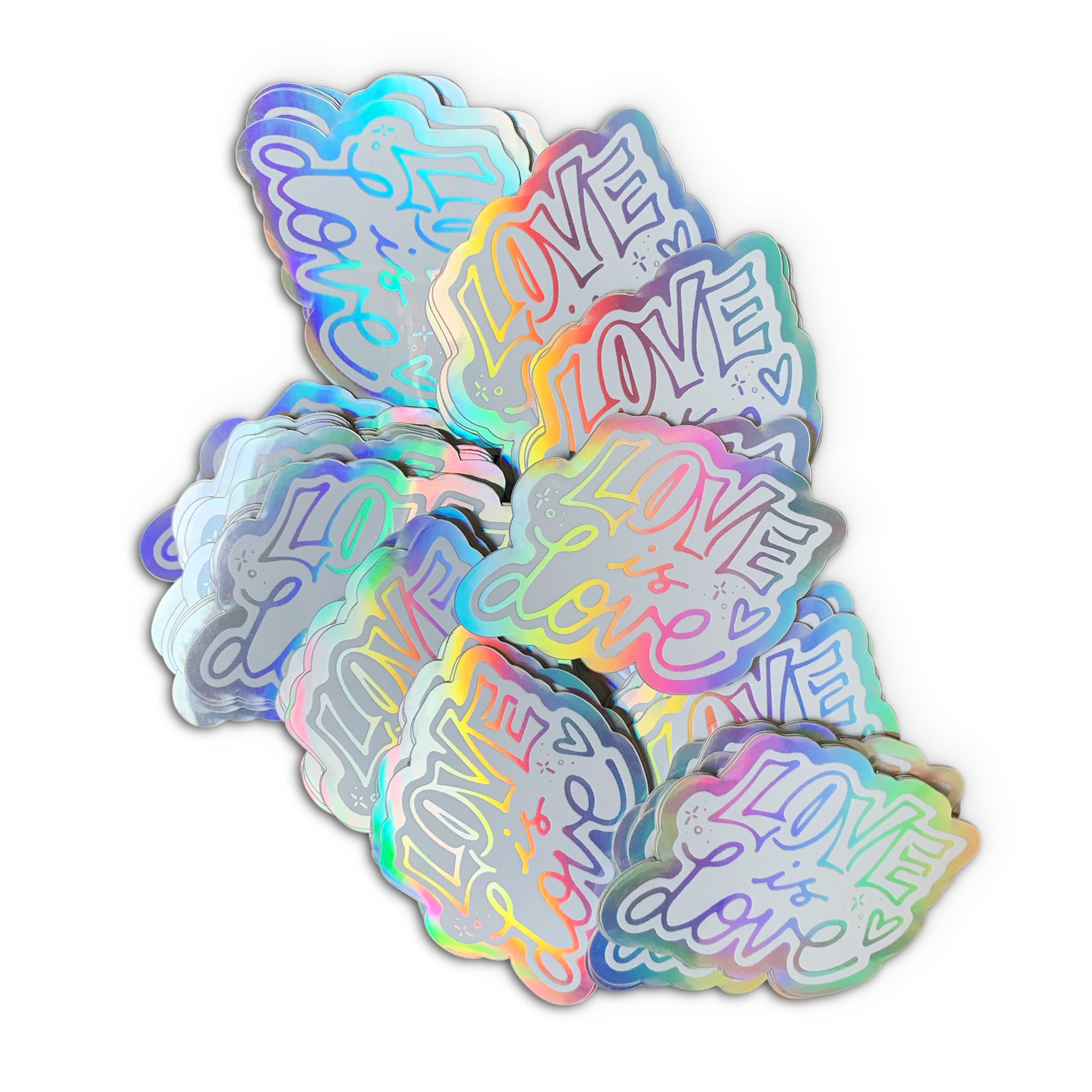 LOVE IS LOVE - Holographic Stickers
