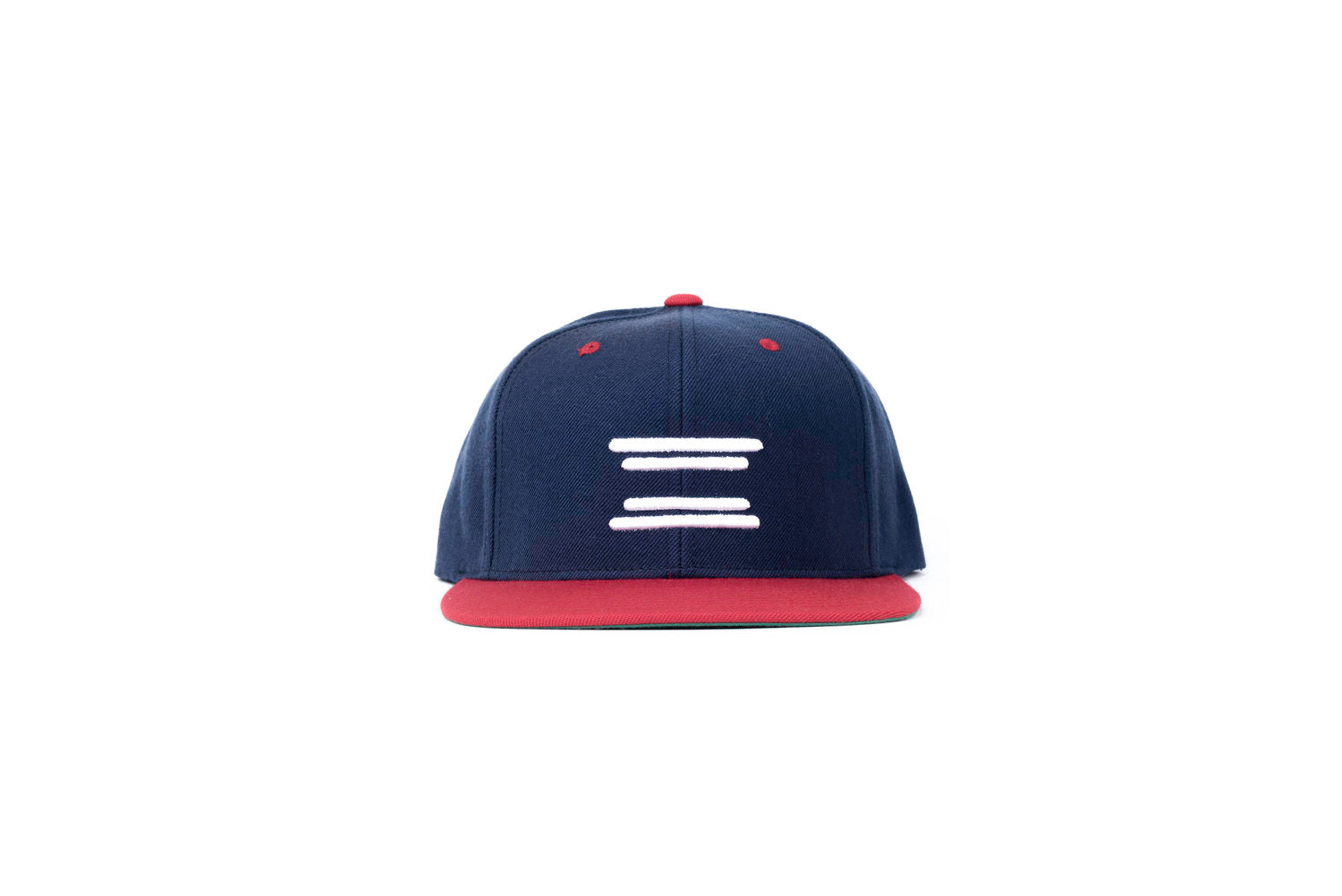 Bars Snapback (Navy/Red)