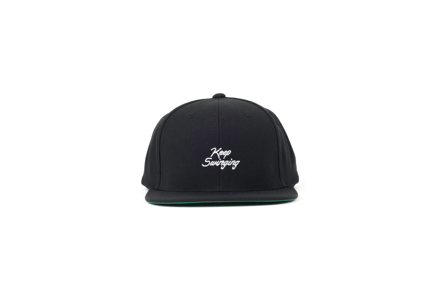Keep Swinging Snapback (Black/White)