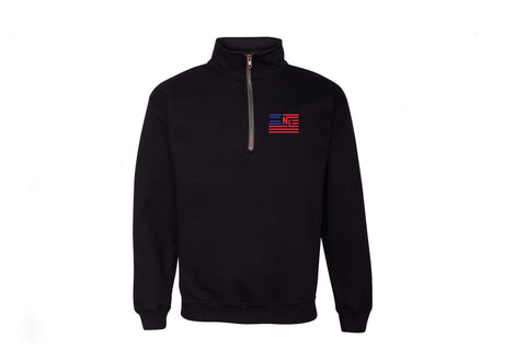 Liberty 1/4 Zip Pullover - Embroidered (Black)