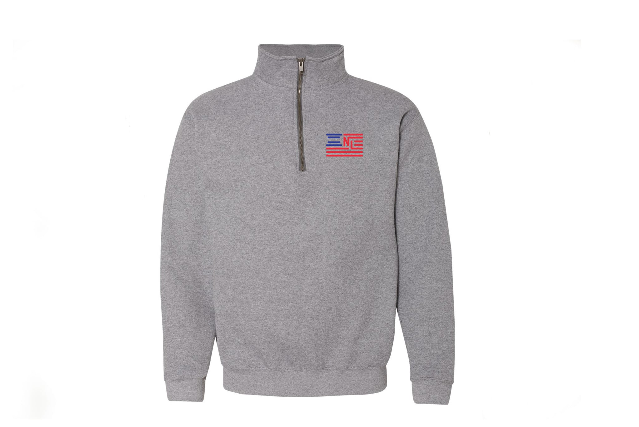 Liberty 1/4 Zip Pullover - Embroidered (Graphite Grey)
